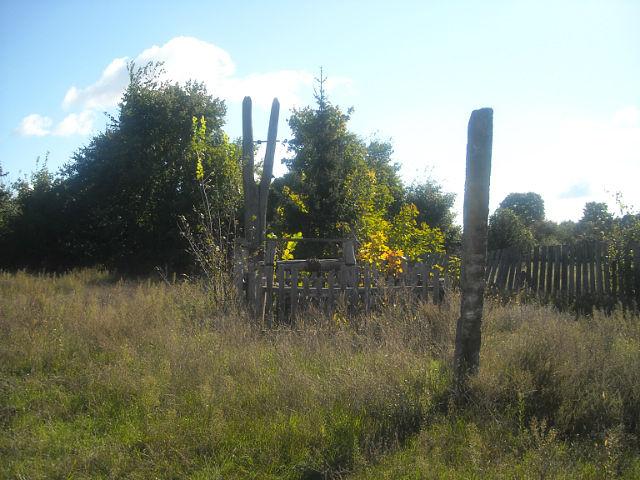 Остатки колодца возле дома Гуль Н. в Медвёдовке. Фото Г.Тарнавского.